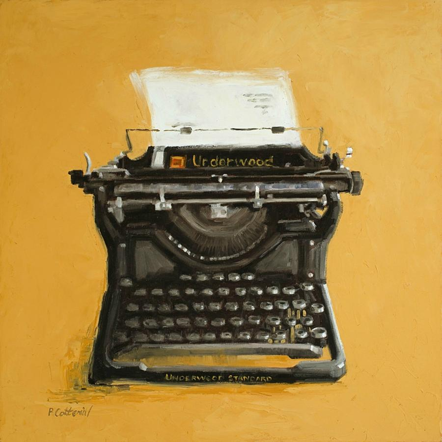 Still Life Painting - Underwood Typewriter by Patricia Cotterill