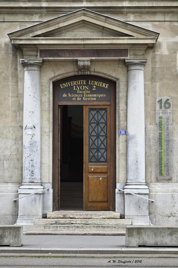 Lyon Photograph - Universite Lumiere by Allen Sheffield