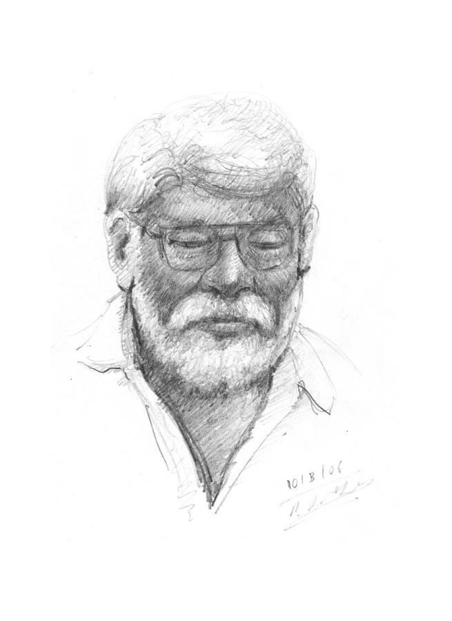 Portrait Drawing - Untital by Prakash Leuva