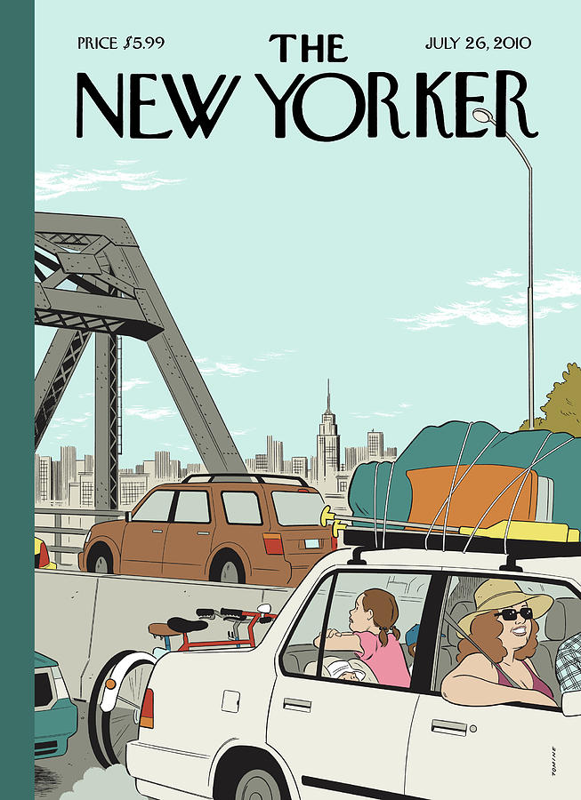 New Yorker July 26th, 2010 Painting by Adrian Tomine