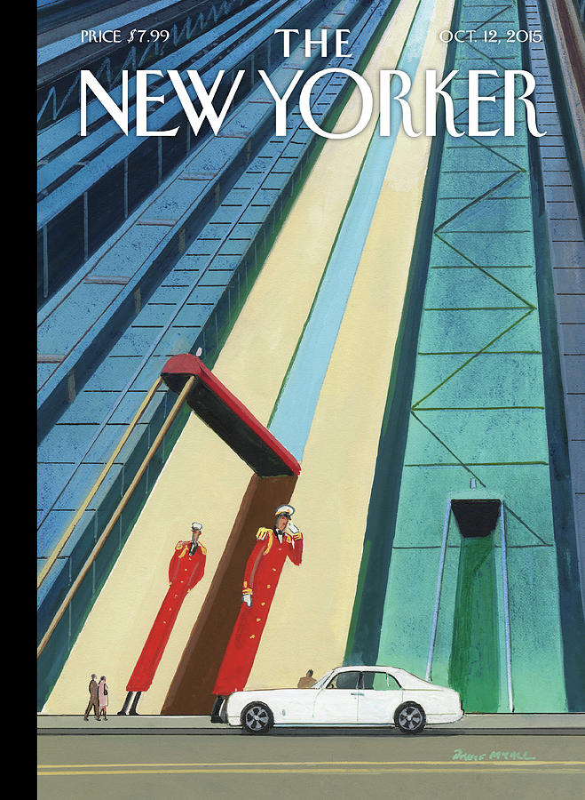 New Yorker October 12th, 2015 Painting by Bruce McCall