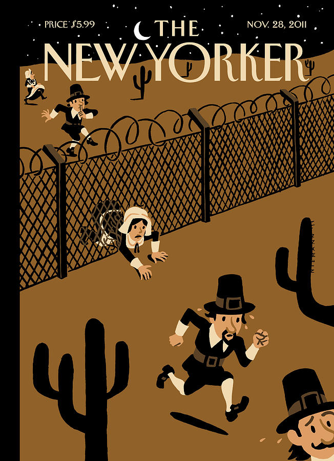 New Yorker November 28th, 2011 Painting by Christoph Niemann