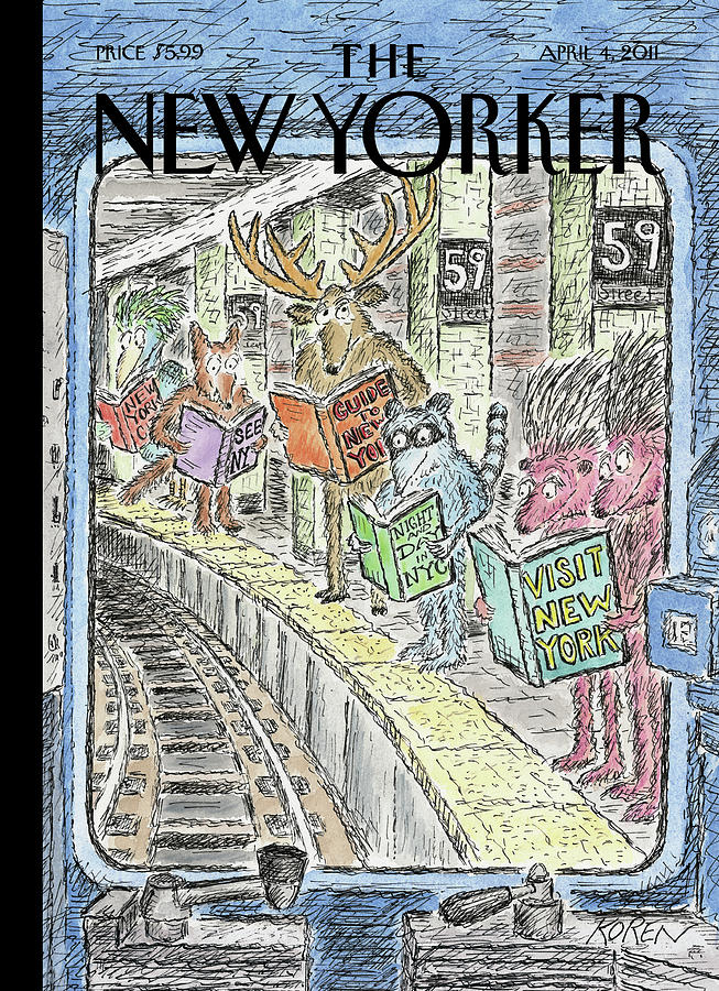 New Yorker April 4th, 2011 Painting by Edward Koren