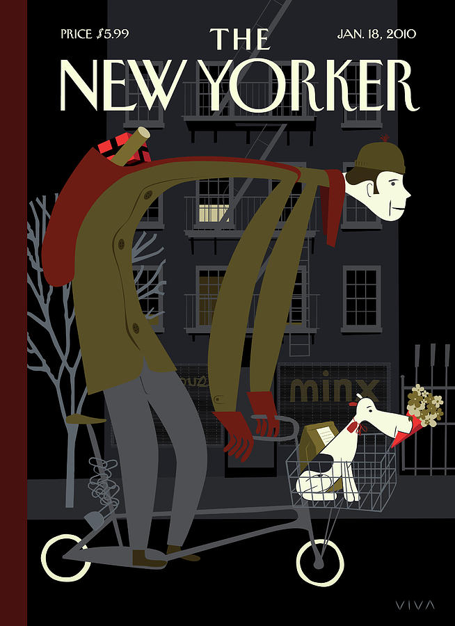 New Yorker January 18th, 2010 Painting by Frank Viva