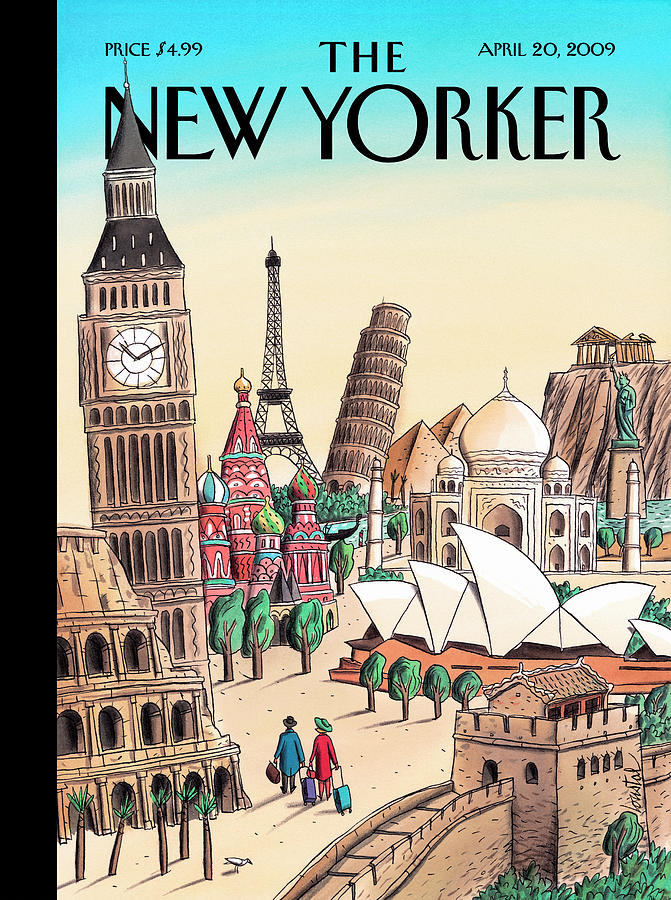 New Yorker April 20th, 2009 Painting by Jacques de Loustal