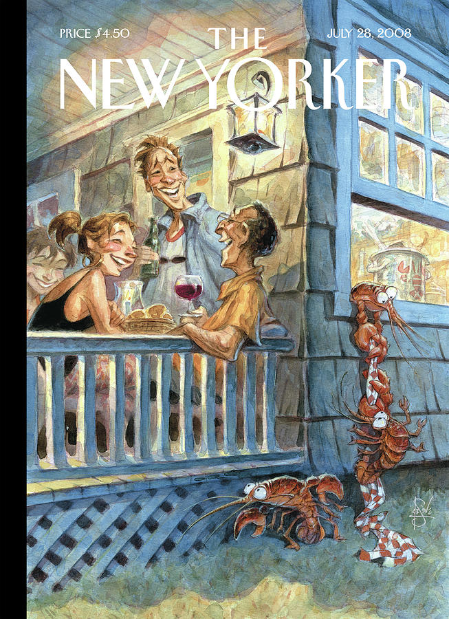 New Yorker July 28th, 2008 Painting by Peter de Seve