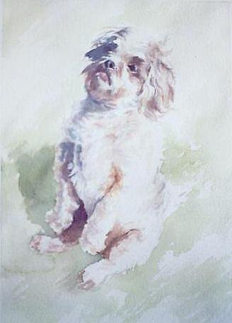 Dog Painting - Untitled 2 by Philip Fleischer