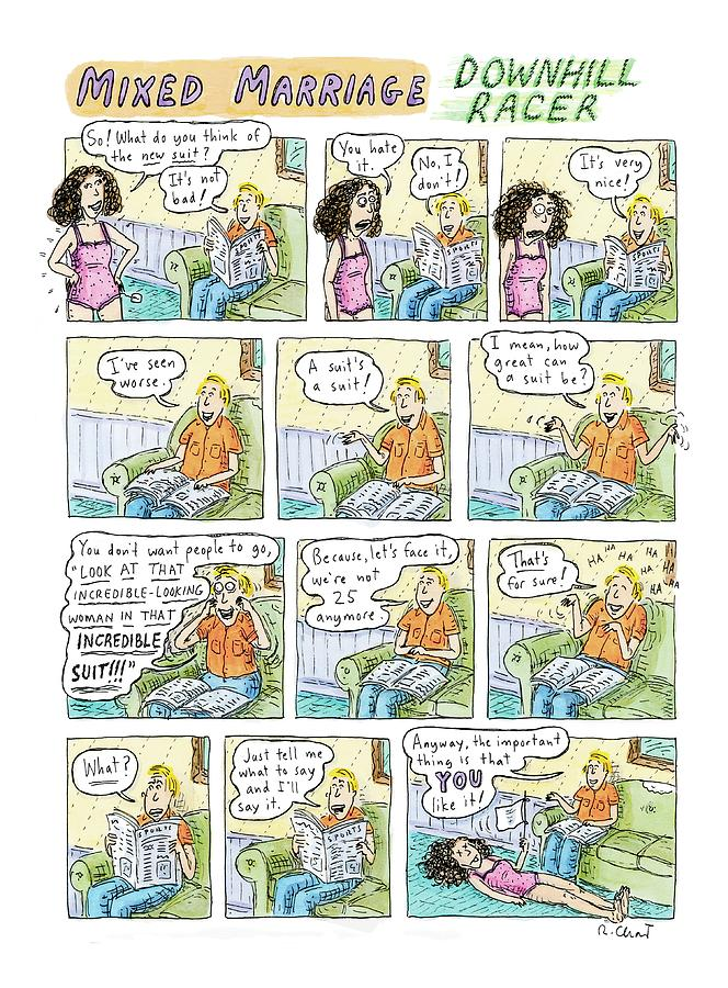 Mixed Marriage Drawing by Roz Chast