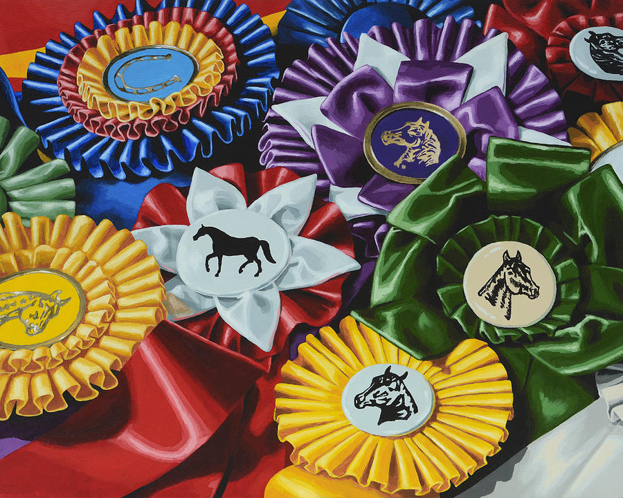 Horse Painting - Untittled by Lesley Alexander
