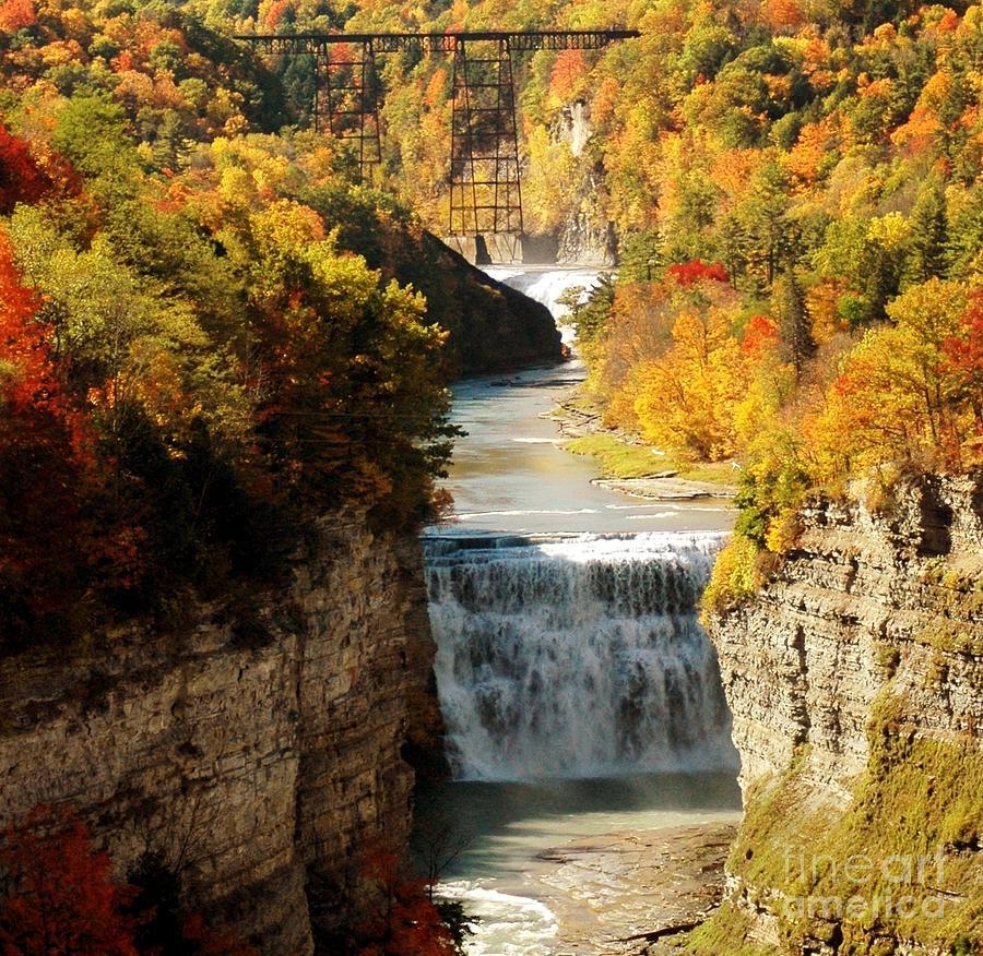 Upper Photograph - Upper Falls by Kathleen Struckle