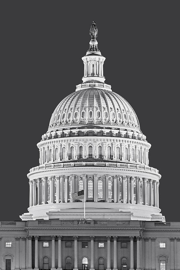 America Photograph - Us Capitol Dome by Susan Candelario