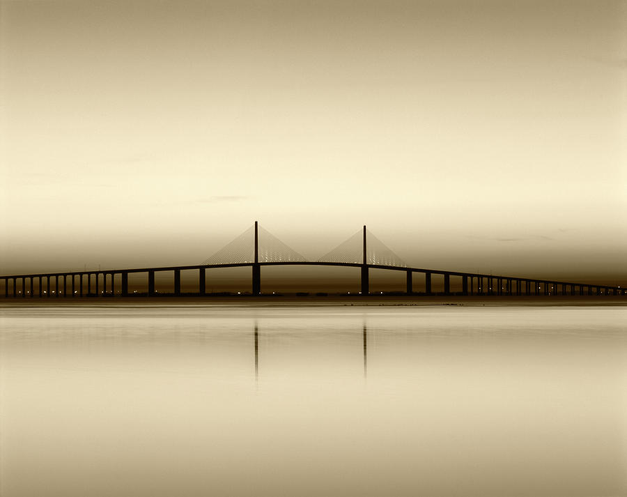 Adam Jones Photograph - USA, Florida, Sunshine Skyway Bridge by Adam Jones