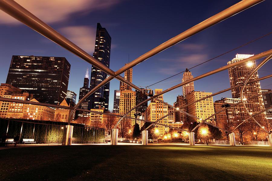 Usa, Illinois, Chicago, Cityscape Photograph by Henryk Sadura
