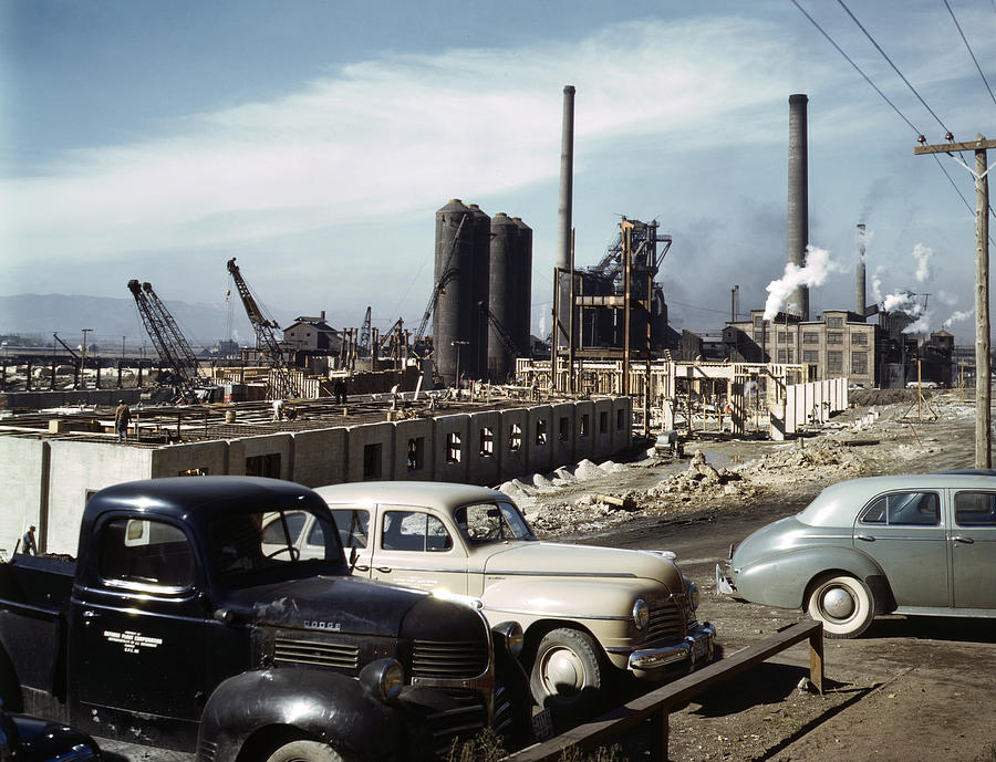 1942 Photograph - Utah Steel Mill, 1942 by Granger