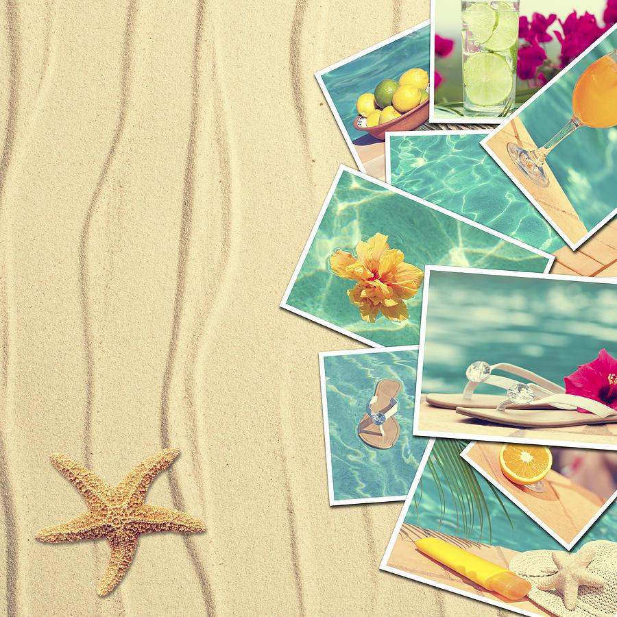 Sand Photograph - Vacation Postcards by Amanda Elwell