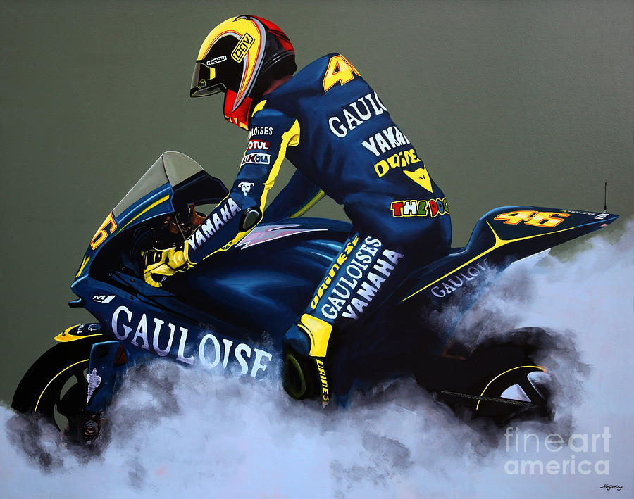 Valentino Rossi Painting by Paul Meijering – Valentino Rossi Birthday Card