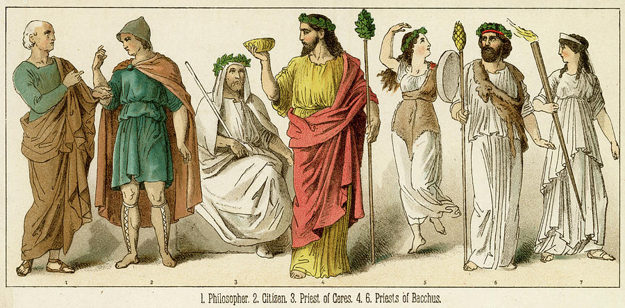 Ancient Drawing - Various Ancient Greek Costumes; Left by Mary Evans Picture Library  sc 1 st  Fine Art America & Various Ancient Greek Costumes; Left Drawing by Mary Evans Picture ...