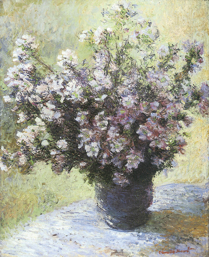 Vase Of Flowers Painting - Vase Of Flowers by Claude Monet