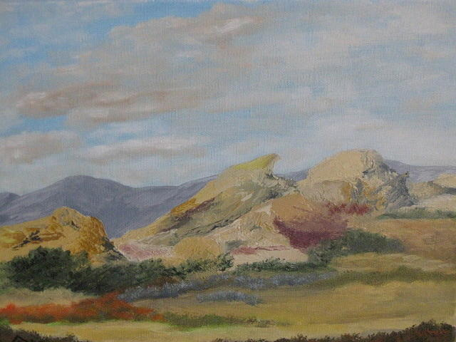 Vasquez Rocks Painting - Vasquez Rocks by Terry Sonntag