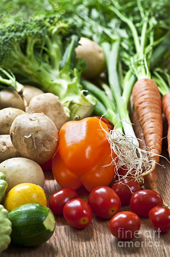 Vegetables Photograph - Vegetables by Elena Elisseeva
