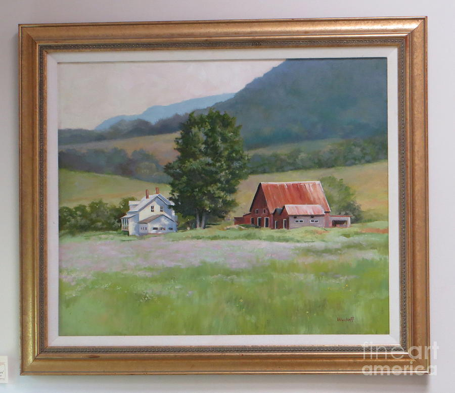 Vermont  Summer Farm Painting by Karol Wyckoff