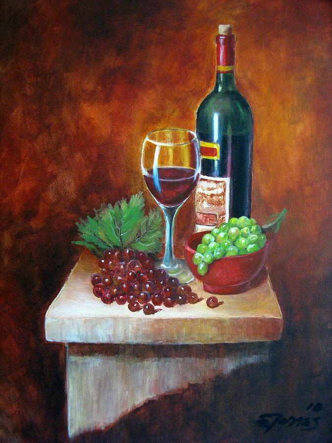 Vino Painting - Vino Tinto by Edgar Torres