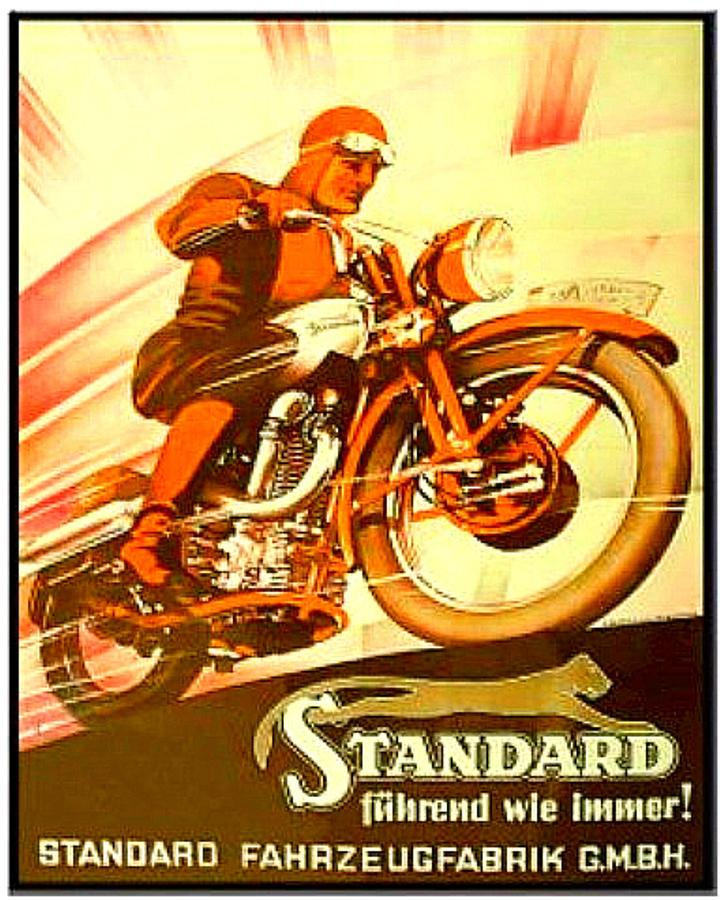 motorcycle advertising Vintage
