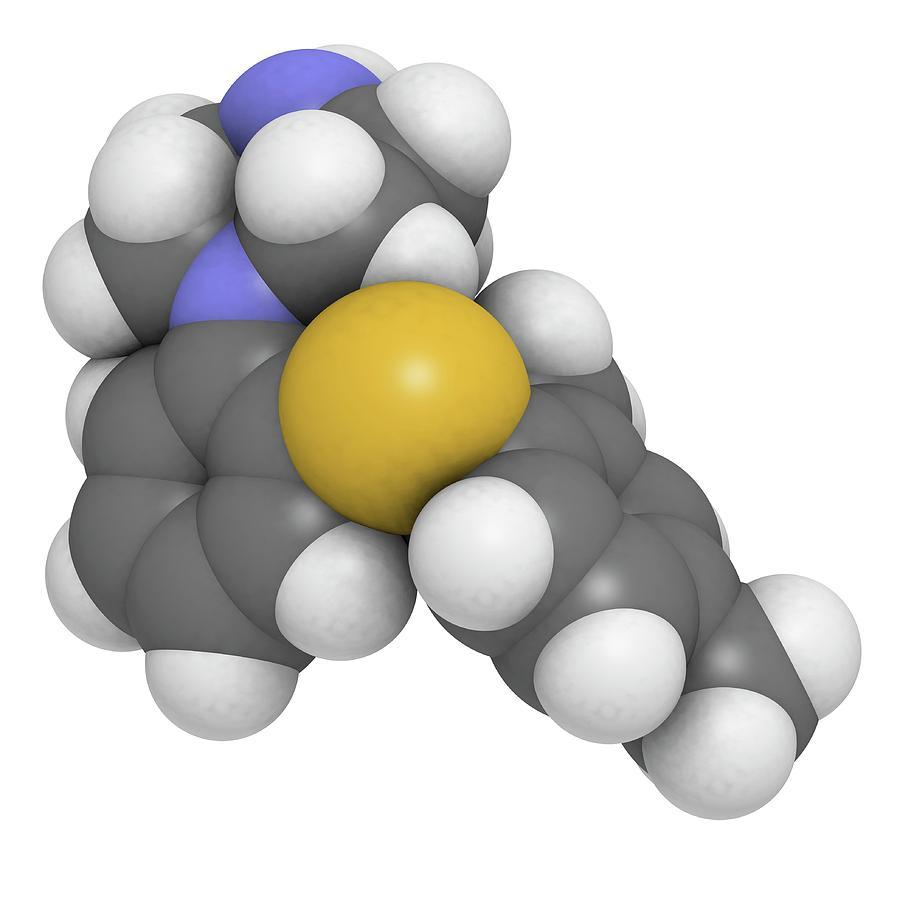 Artwork Photograph - Vortioxetine Antidepressant Drug by Molekuul/science Photo Library