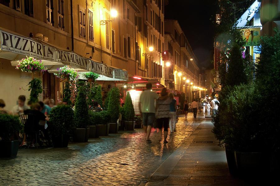 Walking Through Rome At Night Photograph by Mitch Diamond