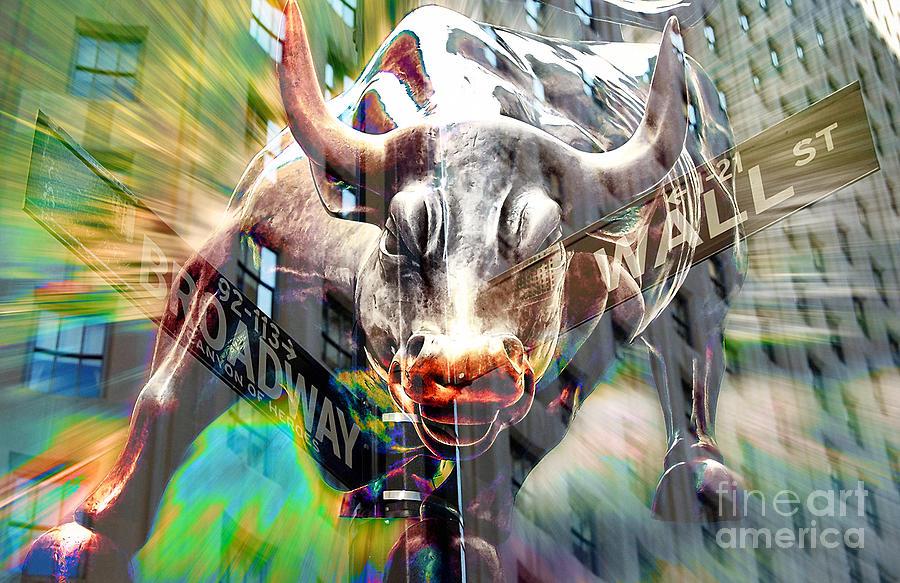 Wall Street Bull Art wall street bull mixed mediamarvin blaine