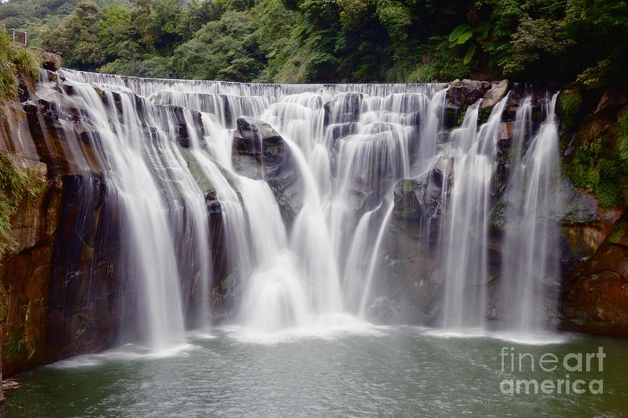 Taiwan Photograph - Waterfall by Fototrav Print