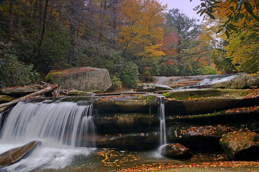 Brevard Photograph - Waterfall Near Nc 215 Translyvania County Nc by Willie Harper