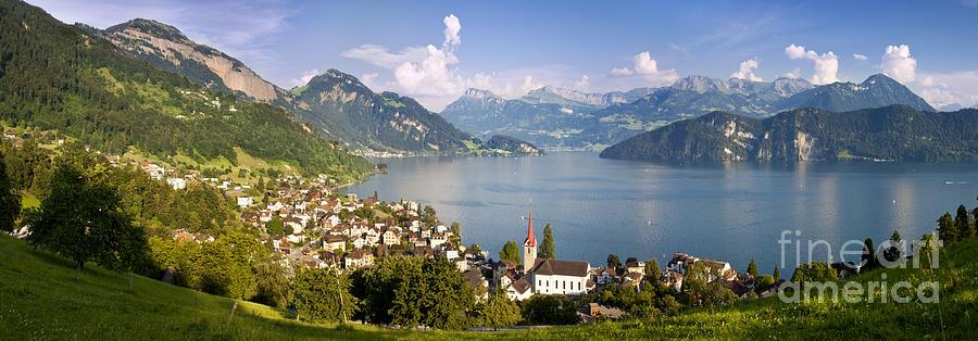 Saint Photograph - Weggis Switzerland by Brian Jannsen