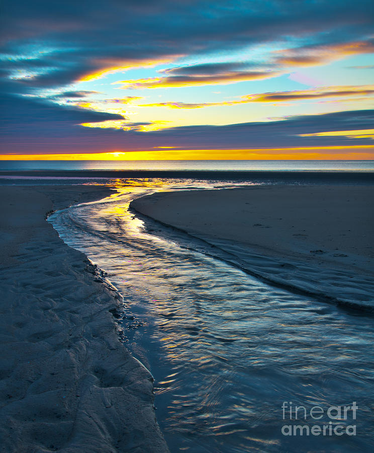 Wells Beach Maine Sunrise Photograph