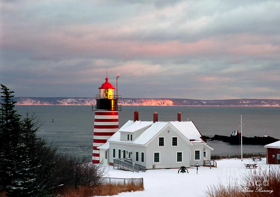 Quoddy Head Lighthouse Photograph - West Quoddy Head Lighthouse by Alana Ranney