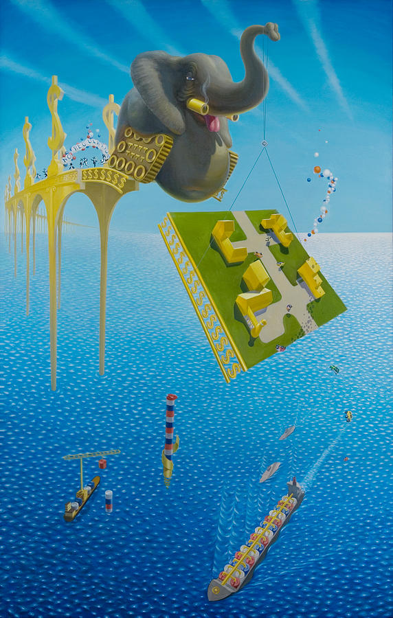 Ocean Painting - Who Needs Regulations? by Johnny Everyman
