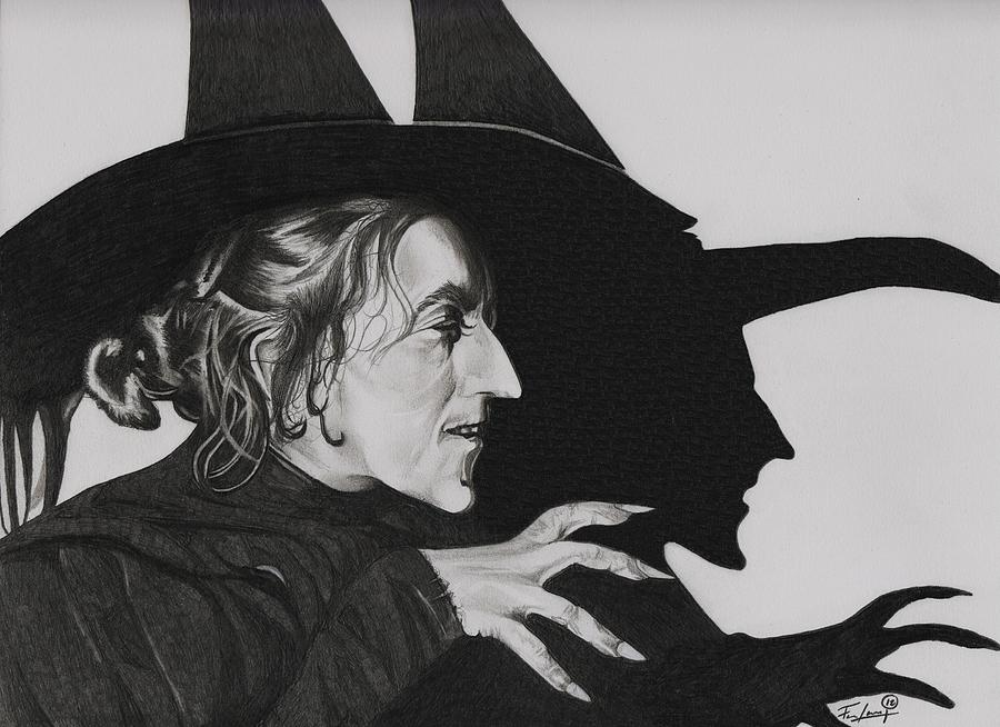 The Wizard Of  Oz Drawing - Wicked Witch Of The West by Fred Larucci