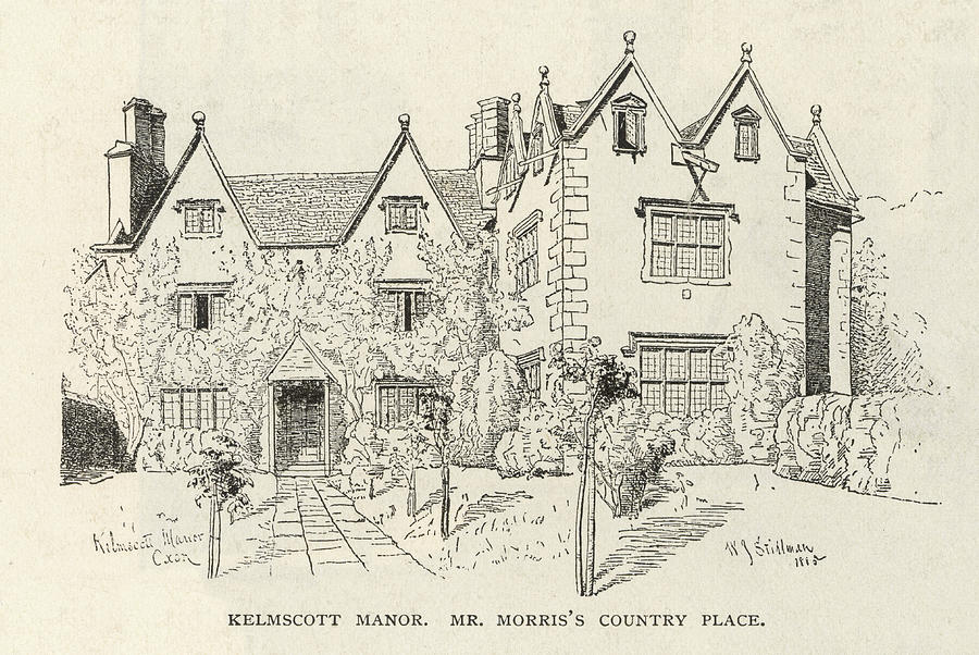 Morris Drawing - William Morris  English Writers Home by Mary Evans Picture Library