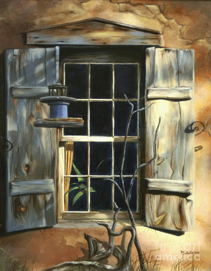 Sunlit Painting - Window by Madeleine Holzberg