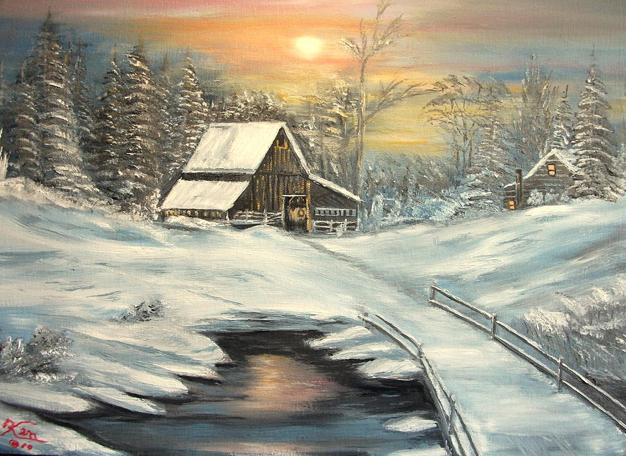 Winter Painting - Winter by Kenneth LePoidevin