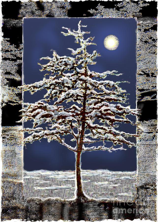 Moon Digital Art - Winter Moon by Ursula Freer