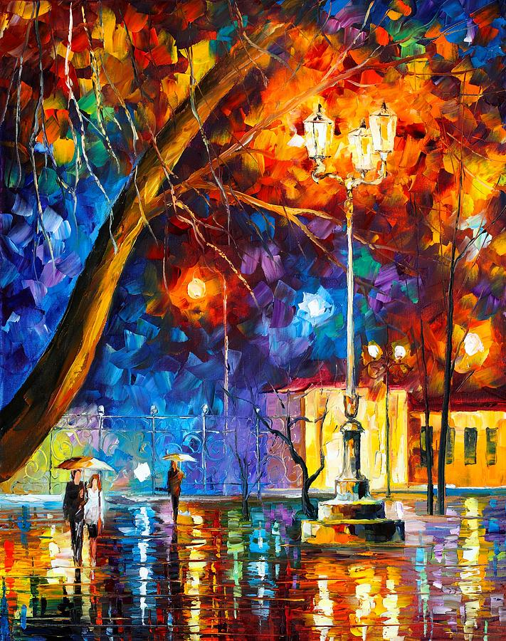 Afremov Painting - Winter Rain by Leonid Afremov