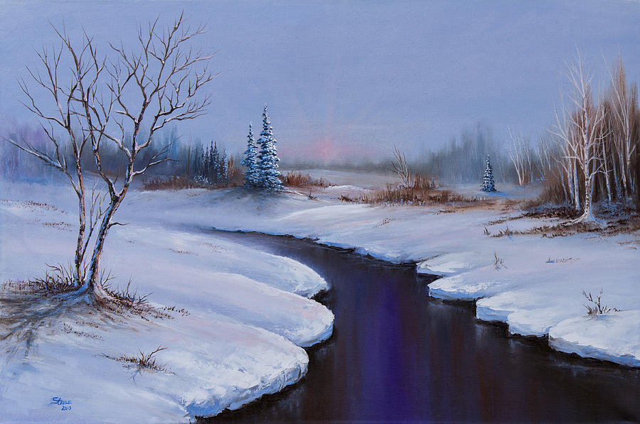Landscape Painting - Winter Stillness by C Steele