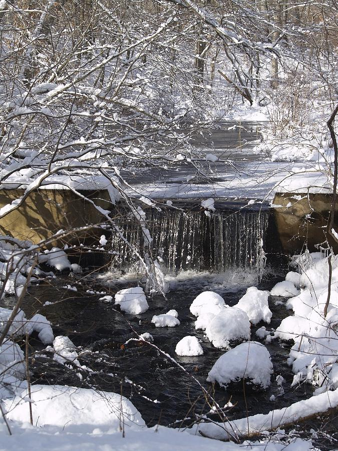 Waterfall Photograph - Winter Waterfall by Patricia McKay