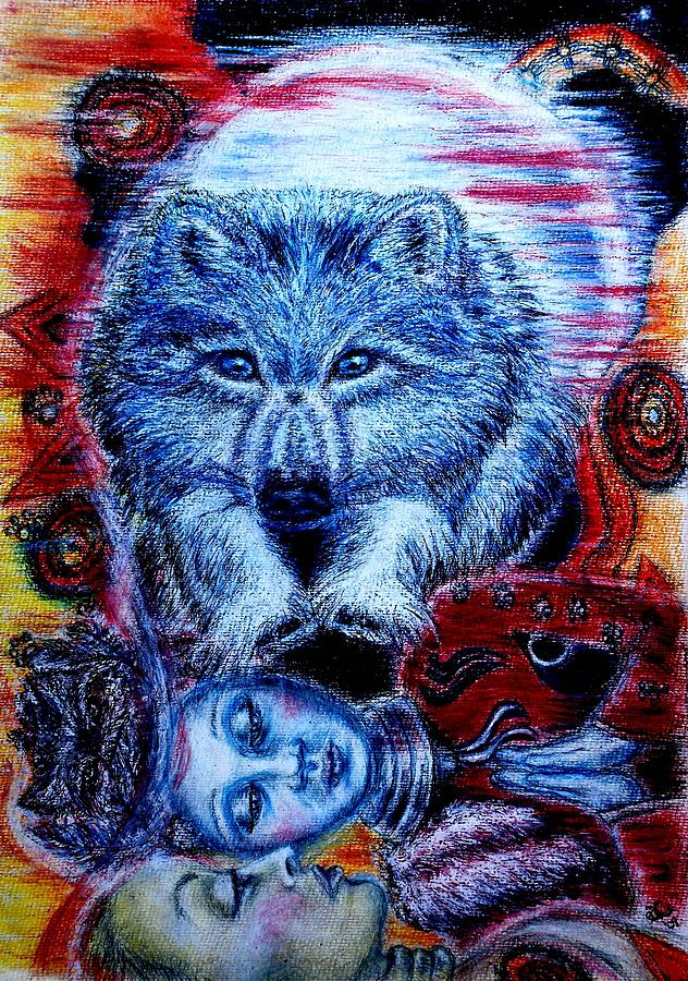 Wolf Dream Painting by Elizabeth Clausen