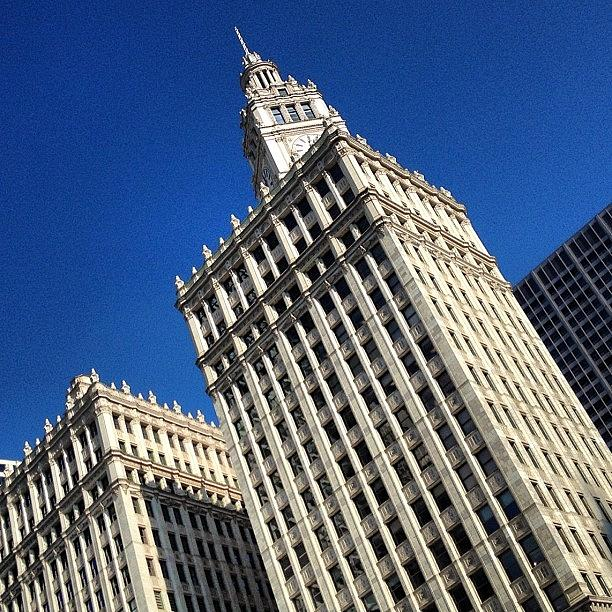City Photograph - Wrigley Building- Chicago by Mike Maher