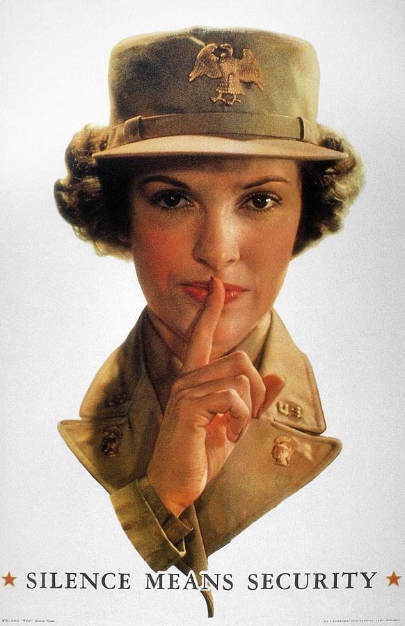 20th Century Photograph - Wwii: Careless Talk Poster by Granger