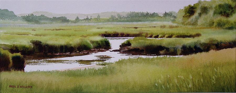 Creek Painting - Yarmouthport Marsh by Karol Wyckoff