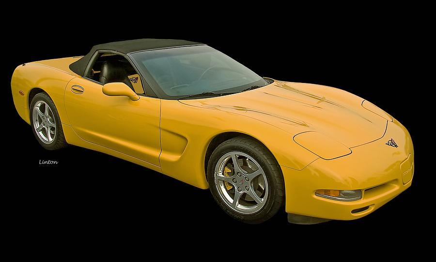 Corvette Photograph - Yellow Corvette 2 by Larry Linton