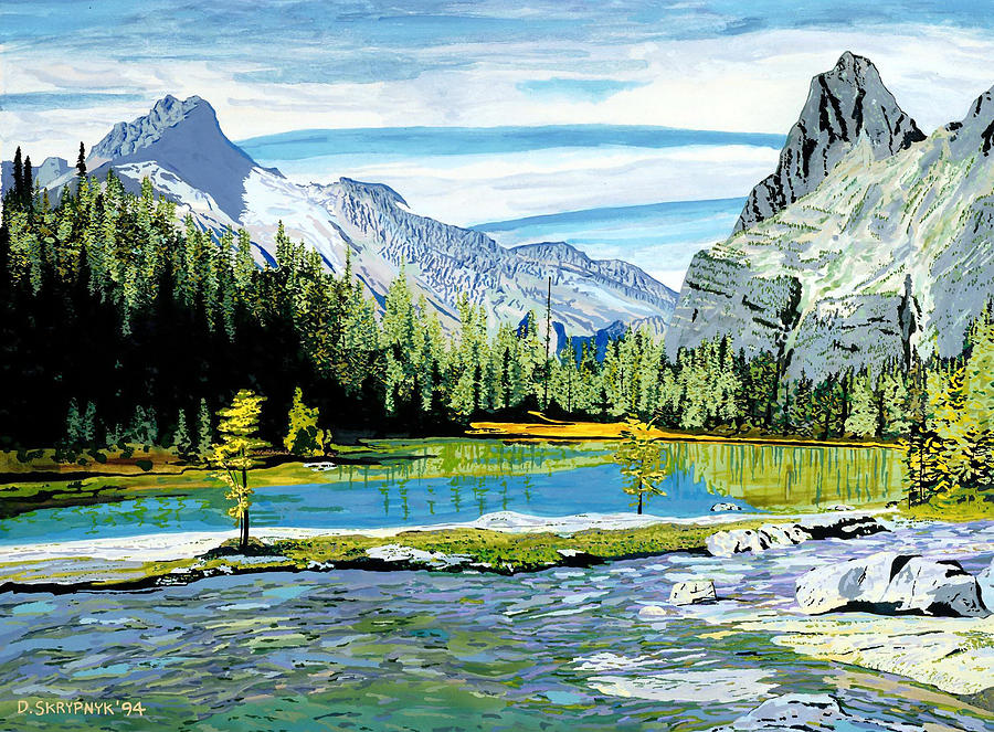 Awesome Landscape Painting Painting - Yoho Valley by David Skrypnyk
